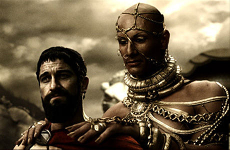 King Leonidas, right, and Xerxes, left (source: screenrant.com)