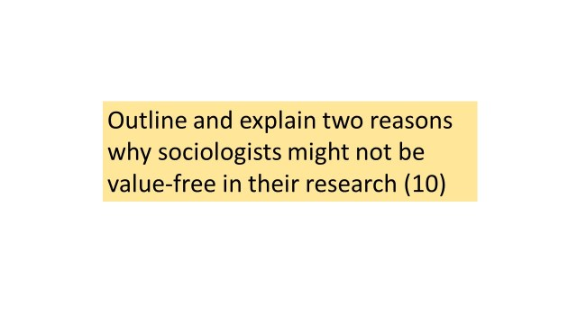 Sociologists and value freedom