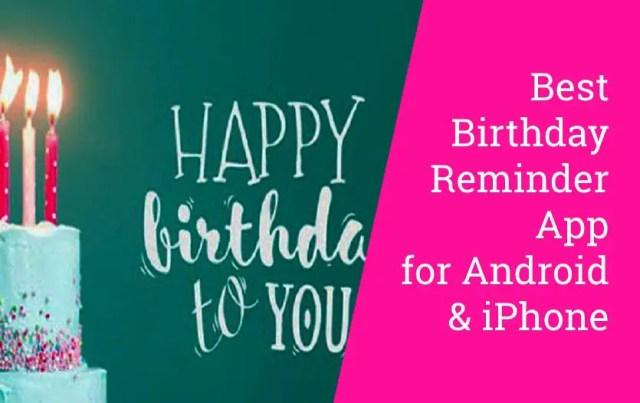 Best Birthday Reminder App