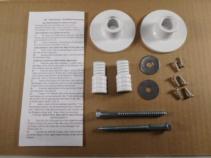 The SolidMount Kit used to Install Grab bars into Fiberglass Enclosures.