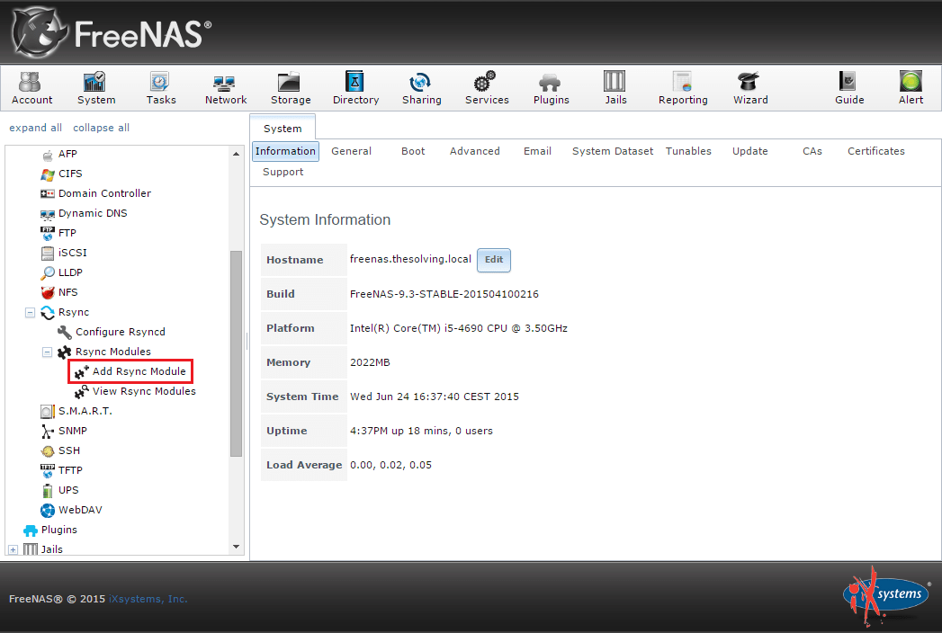 How to sync two FreeNAS storage using rsync | Cong Nghe