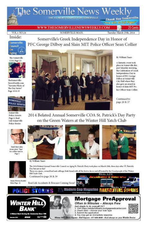 The Somerville News Weekly Print Edition Online for March 25th, 2014