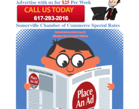 Advertise In The Somerville News Weekly For Only $25 Per Week!