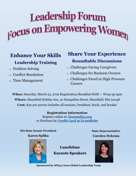 Leadership Forum Focus on Empowering Women | The Somerville News Weekly