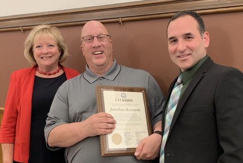 Jon Bernstein Recognized for his 27 years of service to the