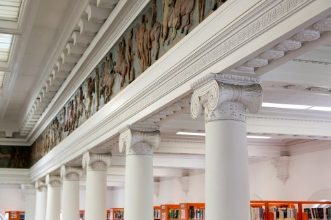 July 14, 2014. Somerville, MA. The Somerville Public Library. Main Branch and West Branch. © 2014 Marilyn Humphries