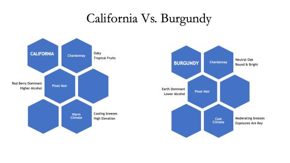 California Vs. Burgundy wine taste differences