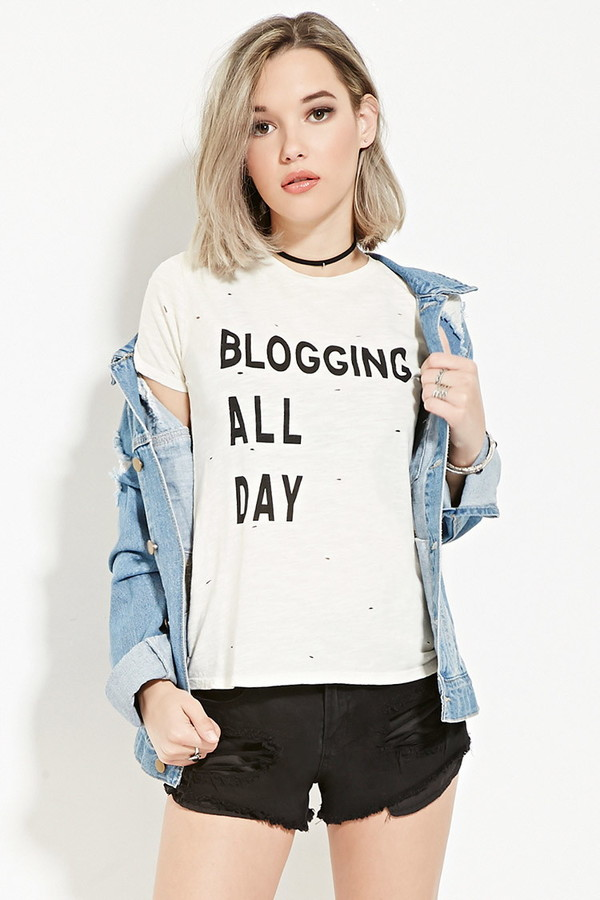 blogging graphic tee
