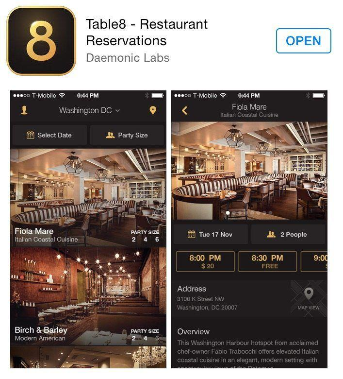 Introducing The Table App For Restaurant Reservations - Table 6 reservations