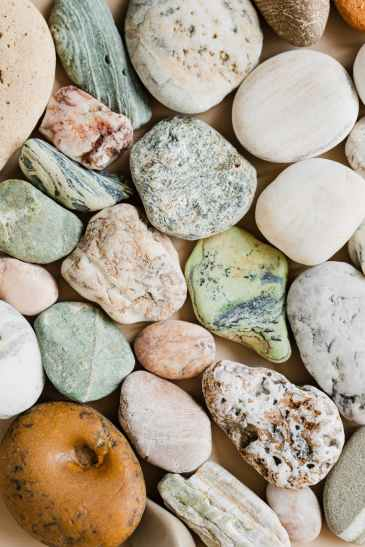 stones in different colors