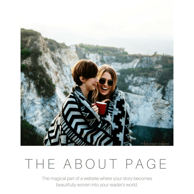 weaving a beautiful about page