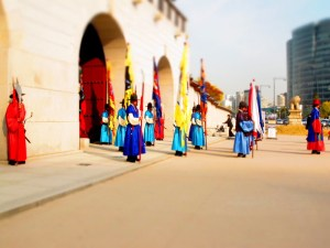 Seoul, Korea: Gyeongbukgung Palace, Guards