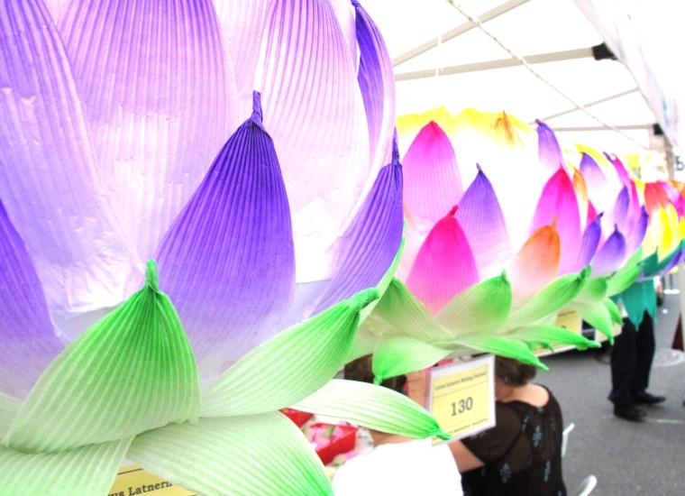 Lotus Lantern Fest lanterns