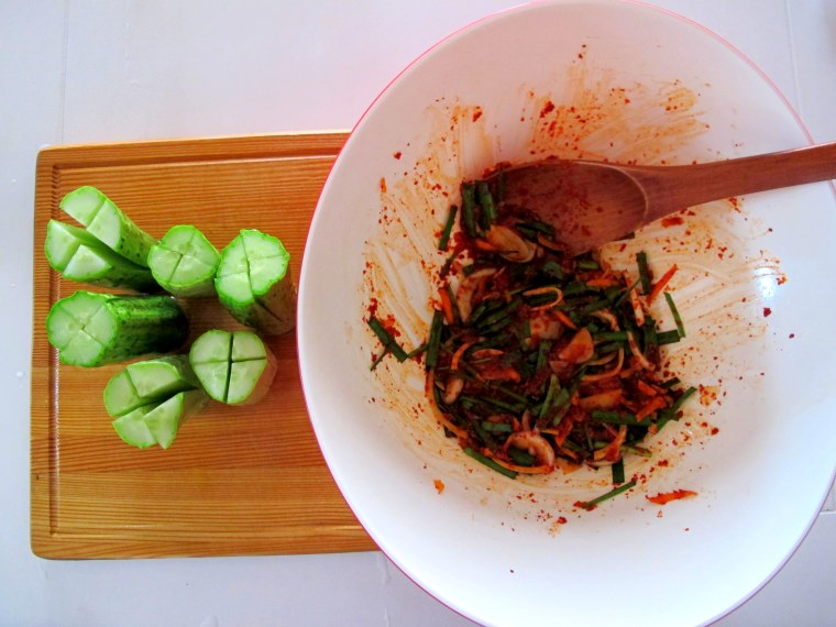 Korean Cooking: Cucumber Side Dish, Food