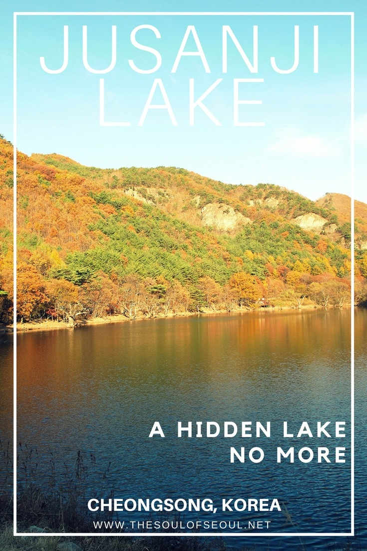 """Jusanji Lake, Cheongsong, Korea: Popular scenes from the movie """"Spring, Summer, Autumn, Winter and Spring"""" were shot at the Jusanji Lake (주산지) located in Juwangsan National Park and up until then, this lake was pretty much a secret to everyone except the locals in Cheongsong, Korea."""
