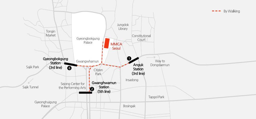 Map to MMCA
