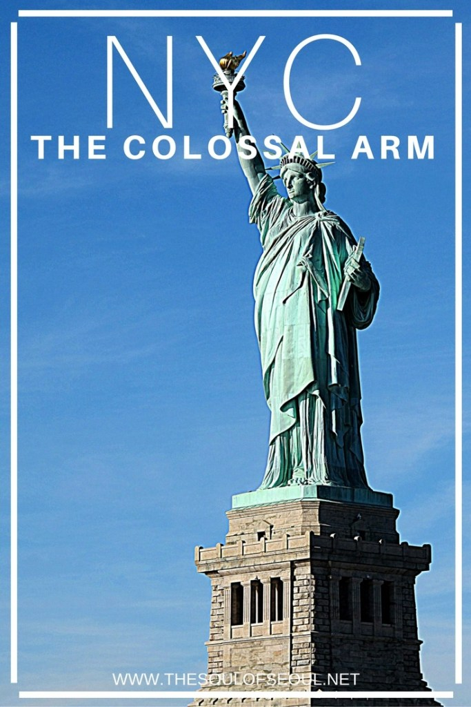 "New York City: The Colossal Arm: A trip to NYC: The Statue of Liberty was amazing to see in person even from a ferry. Once labeled the ""colossal arm"", this is a must see for anyone visiting New York City!"