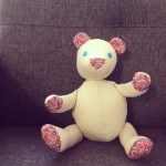 hand sewn teddy bear