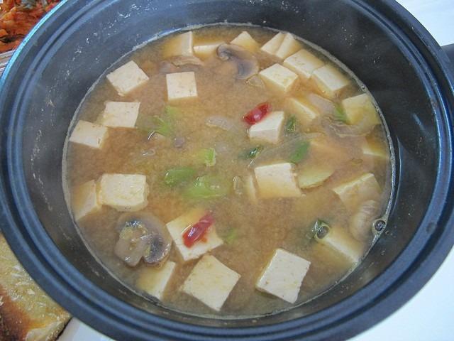 Korean Cooking: Fermented Soybean Paste Soup 된장찌개