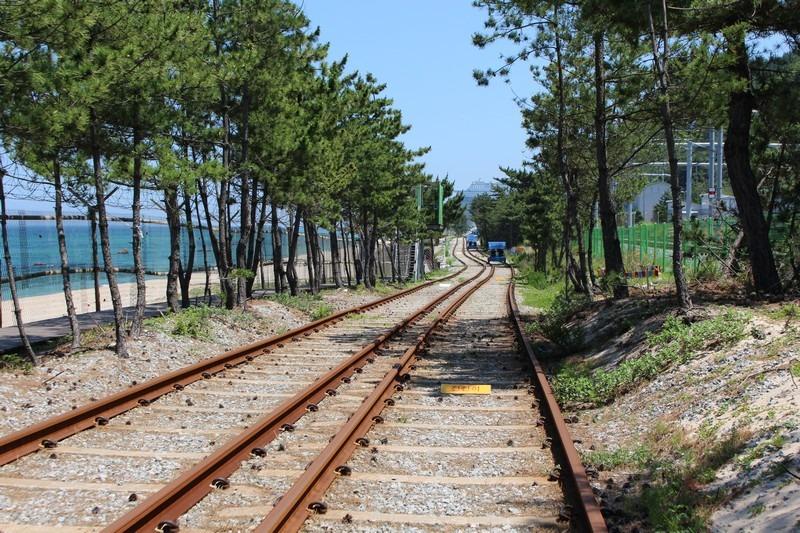 Jeongdongjin Beach, Gangneung, Korea Railbike