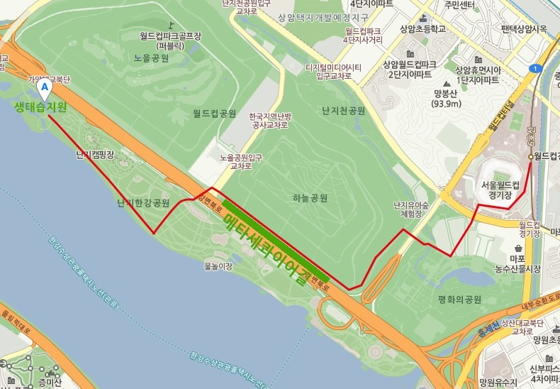 map to Nanji Ecological Park