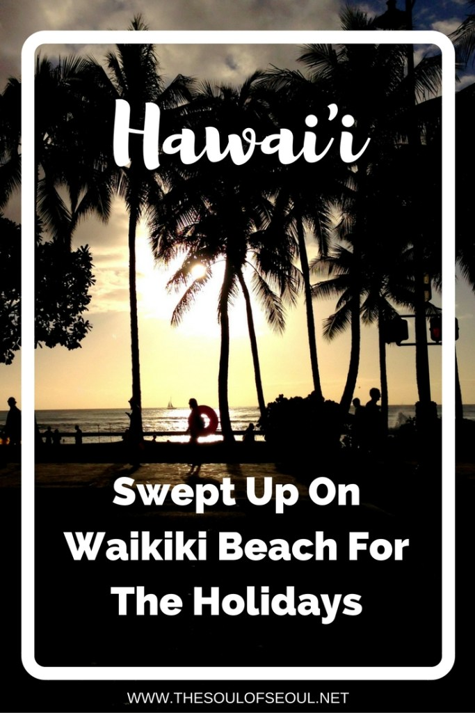 Oahu, Hawaii, USA, Sweapt Up On Waikiki Beach For The Holidays: From surfing lessons to hiking volcanic remains, shopping and more. Waikiki Beach is an amazing holiday away.
