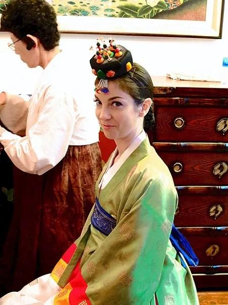 Korean Traditional Wedding: American Bride in a Traditional Korean Hanbok