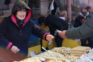 Moraenae Market, Namdong-gi, Incheon, Korea: Korean street food