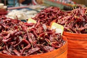 Moraenae Market, Namdong-gi, Incheon, Korea: red peppers