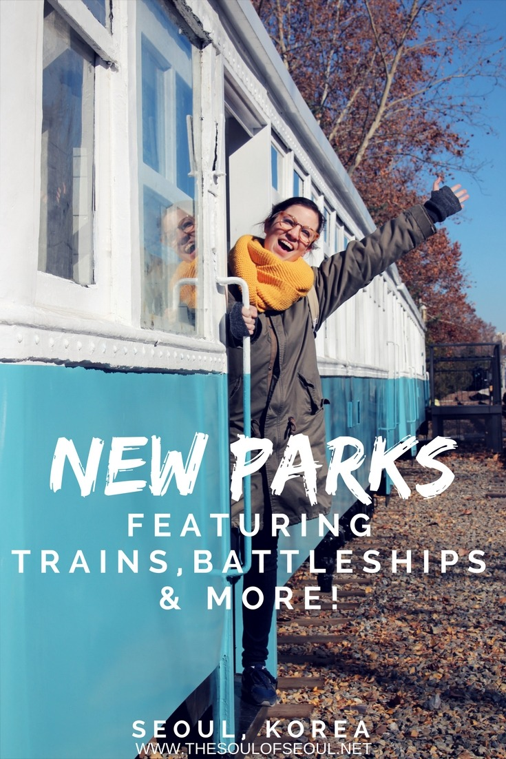 New Parks Featuring Trains, Battleships & More In Seoul!: The recently opened Gyeongchun Line Forest (경춘선숲길) and Seoul Battleship Park (서울함 공원) are two transportation based theme areas that are fun if you're interested in old steam engines or battleships. Fun for adults and kids in Seoul. Check out these two new spots to learn about history and have some fun too.