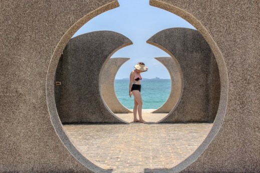 Wangankou Beach, Wangan, Penghu, Taiwan: Hallie Bradley