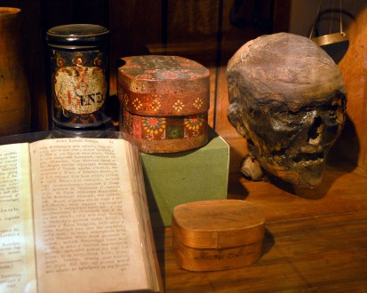 Golden Eagle Pharmacy Museum Mummy's head to cure Epilepsy