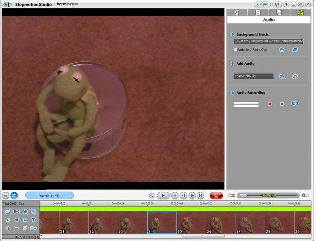 screen shot of software