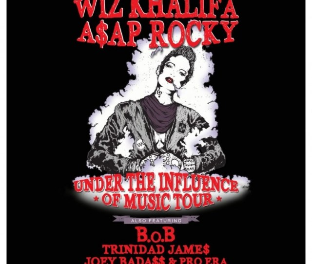 Wiz Khalifa Aap Rocky Announce Under The Influence Of Music Tour Dates