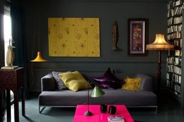 wall color, pink, coffee table