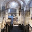 Archeologists dug through seven layers of Jerusalem history inside the Kishle, a former Turkish prison that sits next to the Tower of David Museum, revealing the foundations of Roman emperor Herod's grand palace where Jesus' trial may have taken place. (Ruth Eglash / Washington Post)