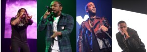 Future, Kendrick Lamar, French Montana and Big Sean on the Powerhouse stage.