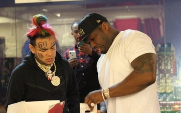 The Source |50 Cent Give Tekashi 6ix9ine a Diamond Encrusted ...