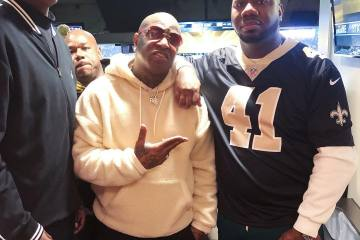 Birdman and Pee From Quality Control Link Up at the NFC Championship Game