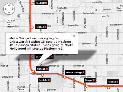 Orange Line Extension Service Map