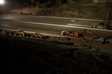I-405 Closure Construction Photos, Sept 28-30