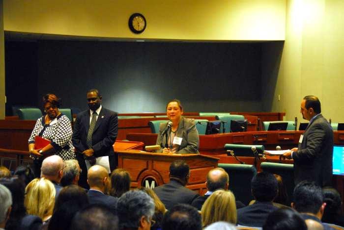 Transportation Business Advisory Council President Lucia Tam.