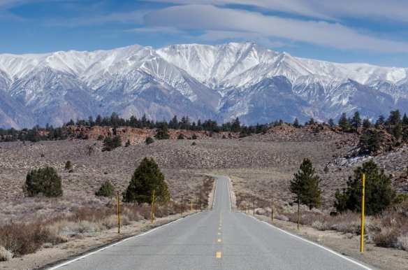 ART OF TRANSIT: Today's photo celebrates extremely rural transportation options. This is Benton Crossing Road looking east toward the White Mountains in Mono County, Calif. Photo by Steve Hymon