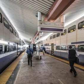 The station is much busier these days, serving as the hub for Metrolink, Amtrak and Metro Rail.
