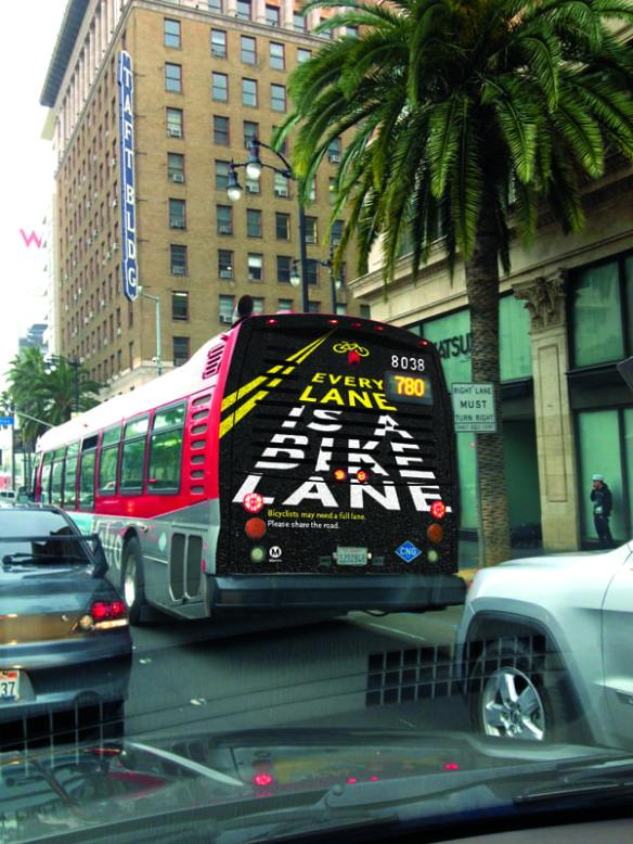 Bike Safety campaign on Metro buses throughout Los Angeles County
