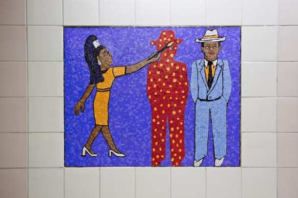 Artwork by Faith Ringgold at Civic Center Station