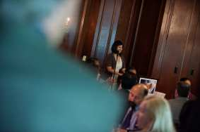 Judy Leon, Senior Marketing Specialist from OCTA, presenting at the 2013 Diamond Awards.