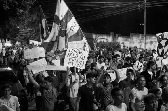 Protests in Divinopolis, Brazil, on Wednesday. Photo by Fernando H. C. Oliveira, via Flickr creative commons.
