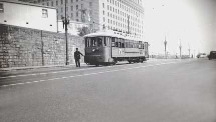 N Line on Temple & Spring in downtown L.A. Photo by Alan Weeks.