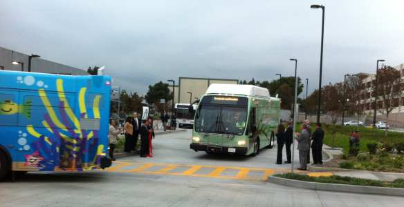 Grand opening of East L.A. College Transit Center. Photo by Michael Richmai/Metro